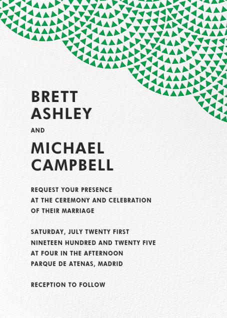 Savoy (Invitation) - Emerald - Paperless Post