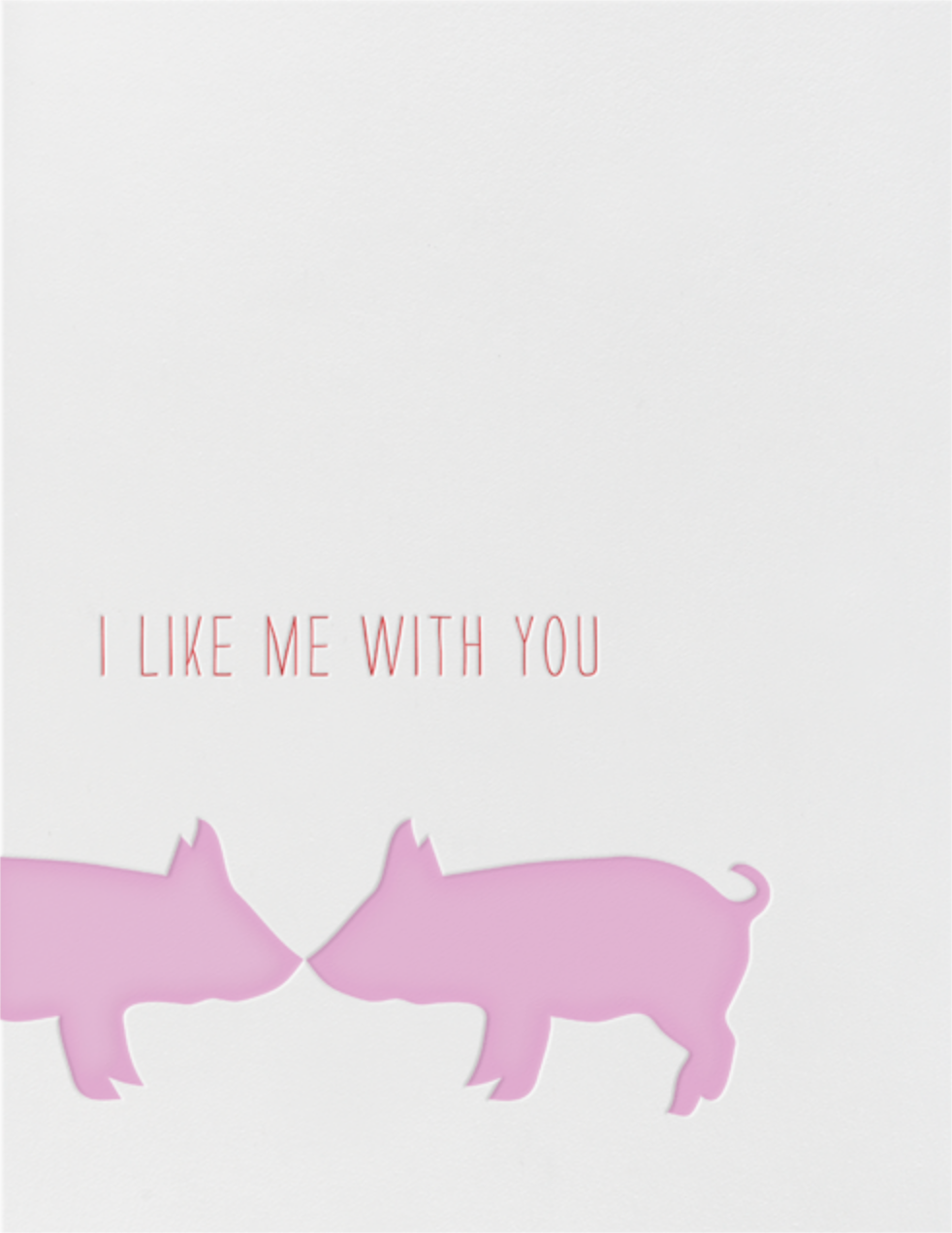 Kissing Pigs - Linda and Harriett - Anniversary cards