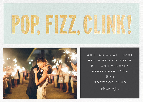 Pop Fizz Clink! (Horizontal Photo) - kate spade new york - Anniversary party