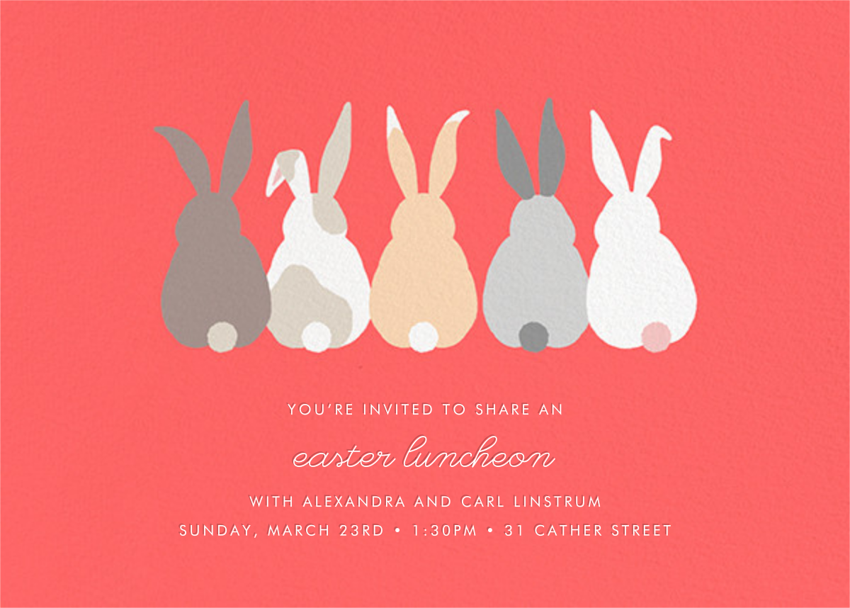 Bunny Bums (Invitation) - Paperless Post - Easter
