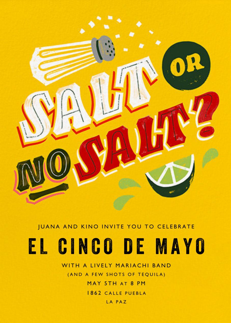 Salt or No Salt? - Paperless Post - Cinco de Mayo