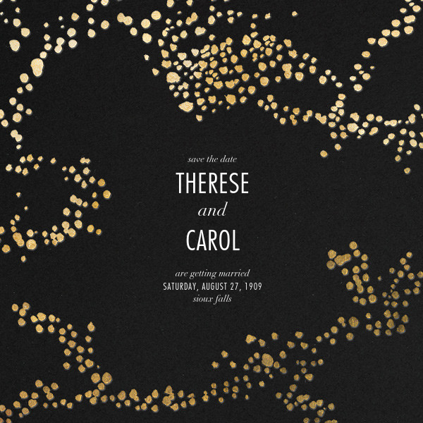 Evoke (Save the Date) - Black/Gold - Kelly Wearstler - Save the date