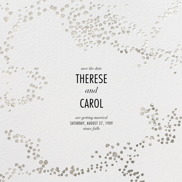 Evoke (Save the Date) - White/Silver - Kelly Wearstler - Save the date