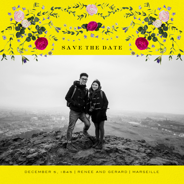 Damascena (Photo Save the Date) - Yellow - Paperless Post