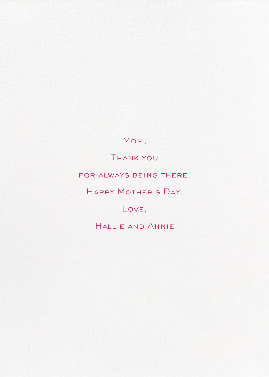 Mother's Day Typography - Paperless Post - Back