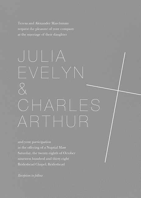 Faithful (Invitation) - Gray - Paperless Post - All
