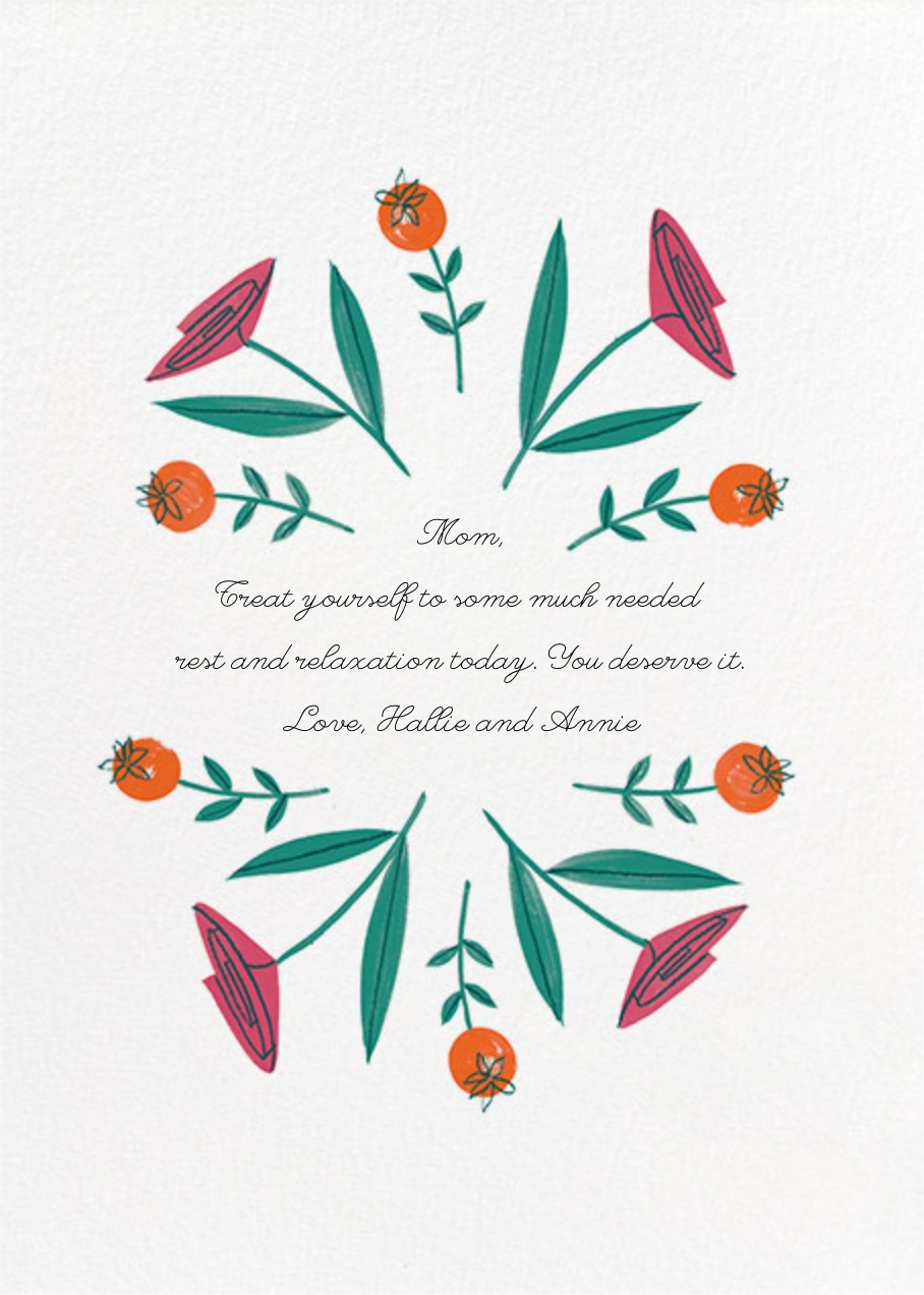 Ring Around the Rosies - Paperless Post - Mother's Day - card back