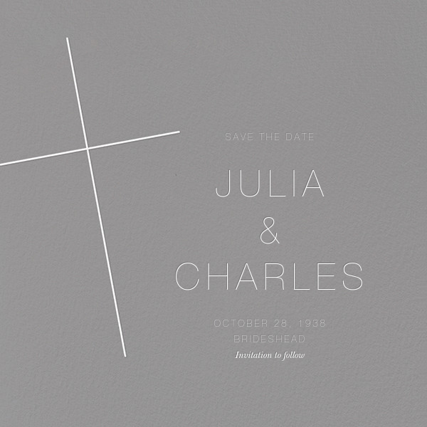 Faithful (Save the Date) - Gray - Paperless Post - null