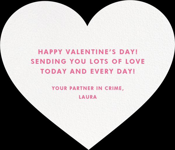 Be Mine - kate spade new york - Valentine's Day - card back
