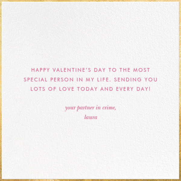 In Love with Love - kate spade new york - Valentine's Day - card back