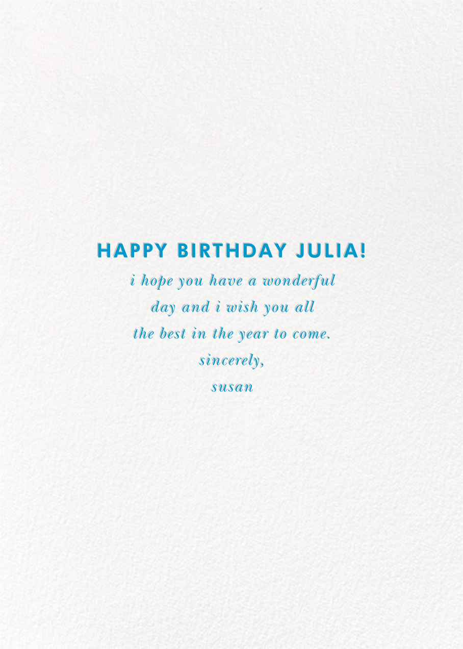 Birthday Baronial (Photo Card) - kate spade new york - Birthday - card back