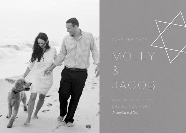 Nissuin (Photo Save the Date) - Gray - Paperless Post - Photo