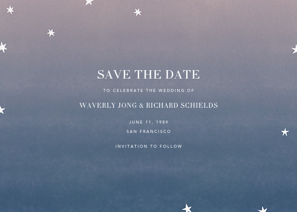 L'Heure Bleue (Save the Date) - Gold - Paperless Post - Photo  - card back