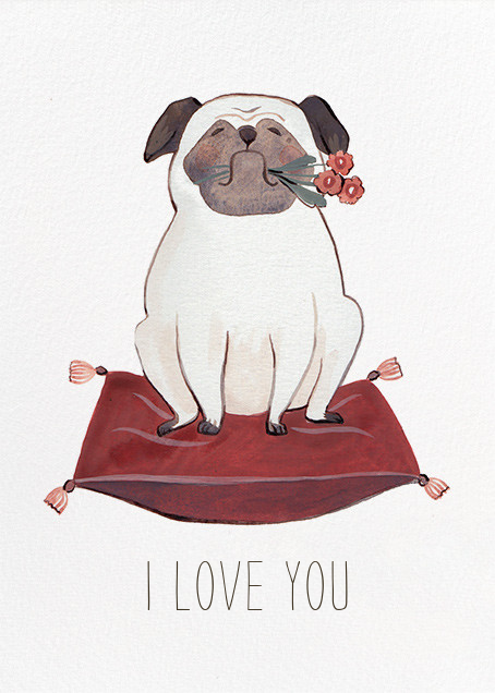 Pug Love (Kelsey Garrity Riley) - Red Cap Cards - Valentine's Day