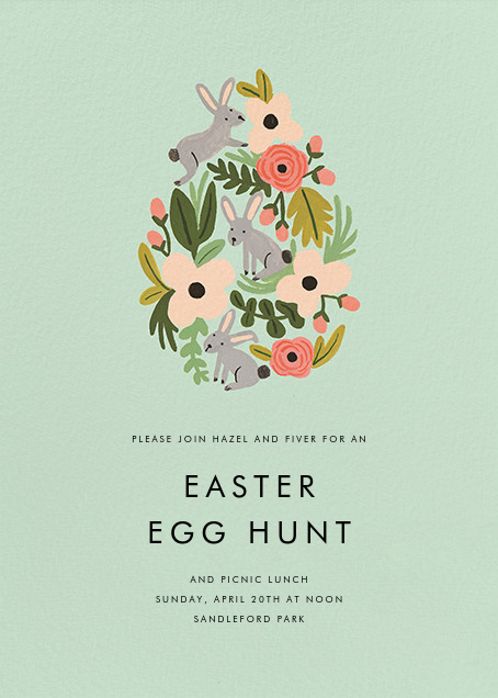 The Rabbit or the Egg - Mint - Rifle Paper Co.