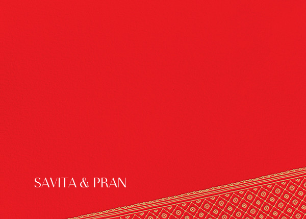 Choli (Stationery) - Red - Paperless Post - Personalized stationery