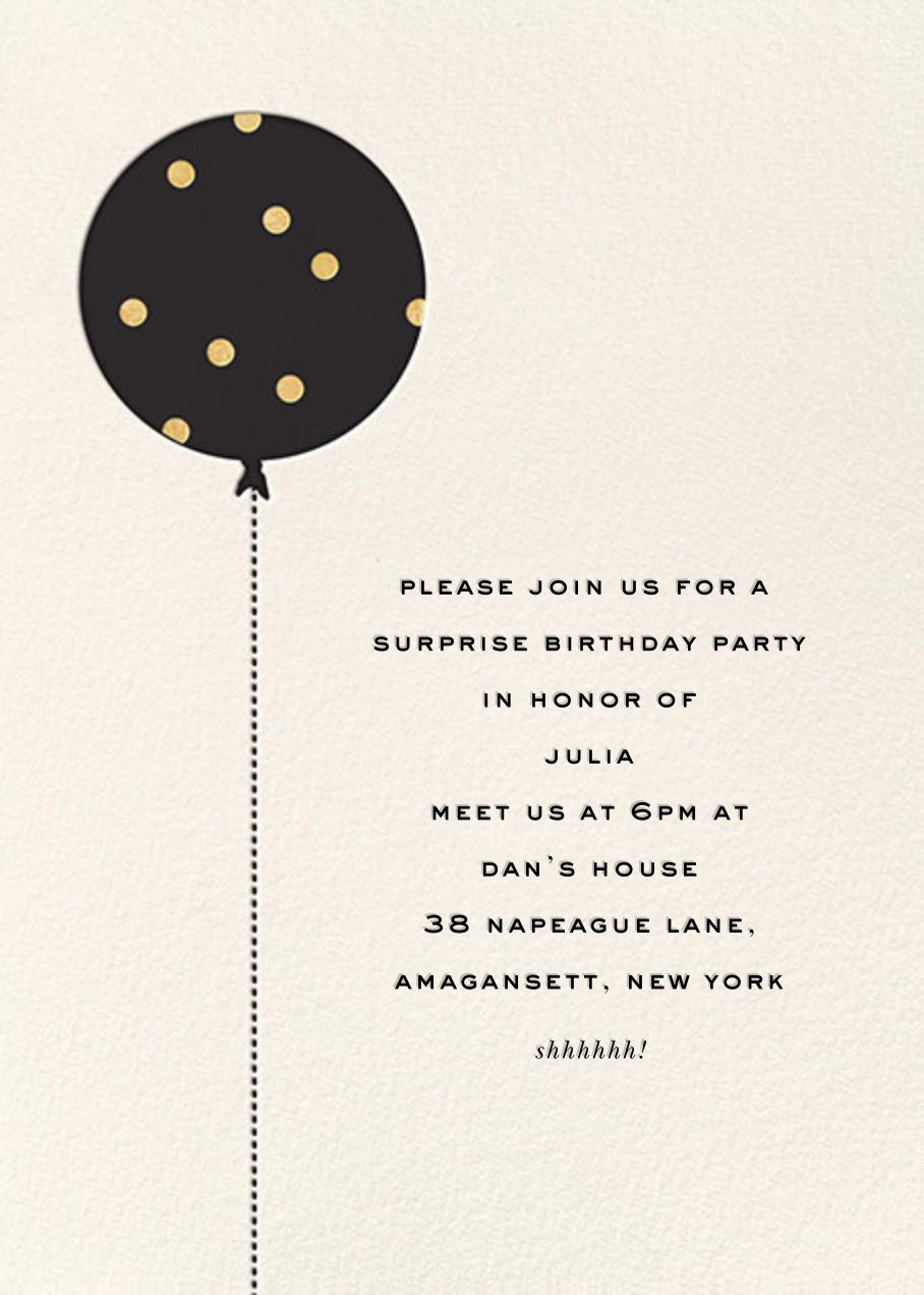 Balloon Birthday (Photo) - Gold - kate spade new york - Adult birthday - card back