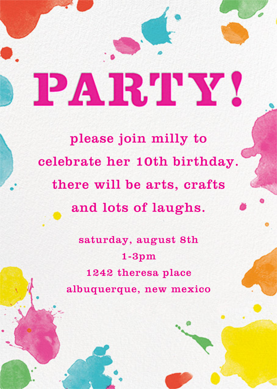 Splatter Paint - Pink - kate spade new york - Kids' birthday