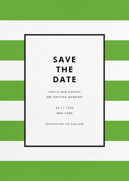 Stripe Suite (Save the Date) - Green - kate spade new york - Save the date