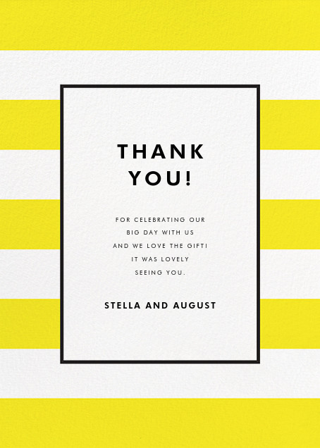 Stripe Suite (Stationery) - Yellow - kate spade new york