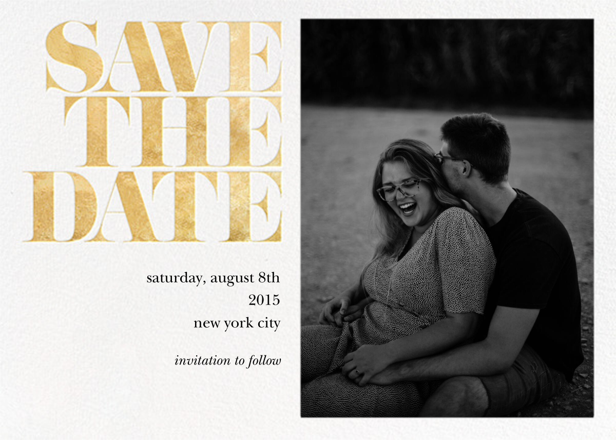 Vintage Book Save the Date (Photo) - Gold - kate spade new york - Photo
