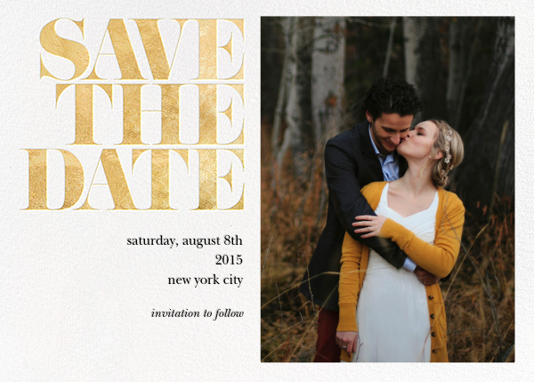 save the date publisher template