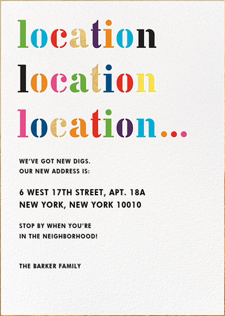 Location Location Location... - kate spade new york - Moving