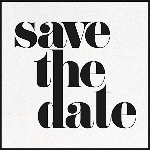 A Golden Date - White/Black - kate spade new york - Party save the dates