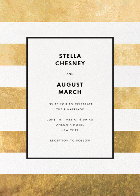 Stripe Suite (Invitation) - Gold - kate spade new york - All