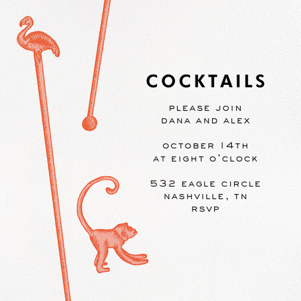 Swizzle Cocktail - White - kate spade new york - Cocktail party