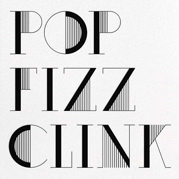 Pop Fizz Clink (Square) - White/Black - kate spade new york - Adult birthday
