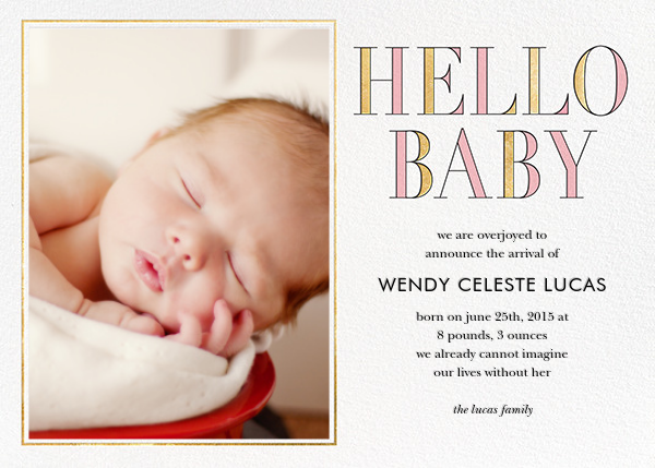 Hello Baby - Pink - kate spade new york - Birth