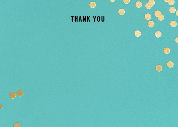 Confetti (Stationery) - Aqua/Gold - kate spade new york - Baby and kids'