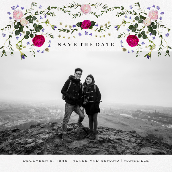 Damascena (Photo Save the Date) - White - Paperless Post - Photo