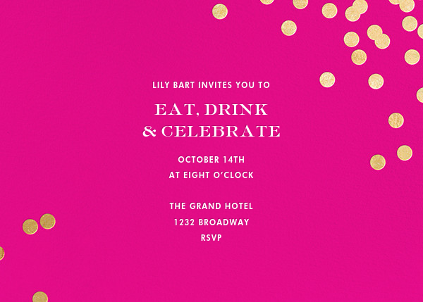 Confetti - Bright Pink/Gold - kate spade new york - Cocktail party