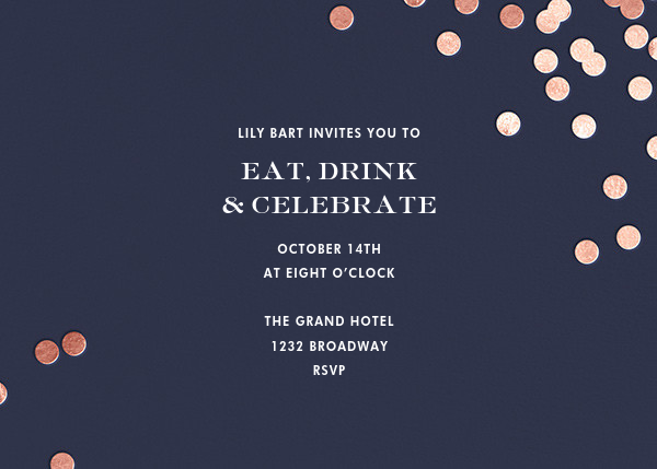 Confetti - Navy/Rose Gold - kate spade new york - Cocktail party
