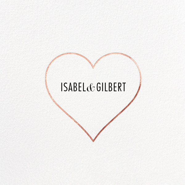 Heart Line - Rose Gold - Paperless Post - Save the date