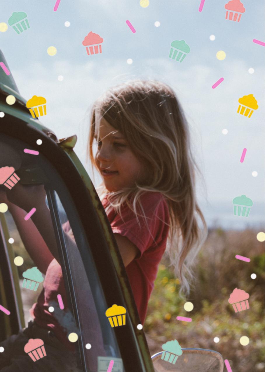 Cakefetti (Photo) - Multi - Paperless Post - Kids' birthday