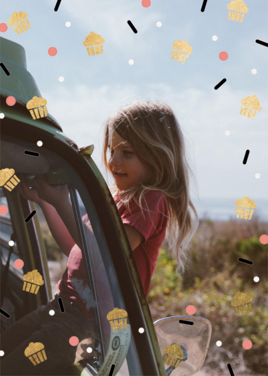 Cakefetti (Photo) - Gold - Paperless Post - Kids' birthday