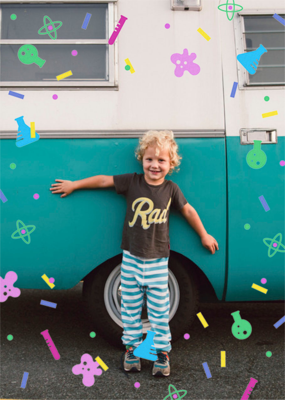 Sci-fetti (Photo) - White - Paperless Post - Kids' birthday