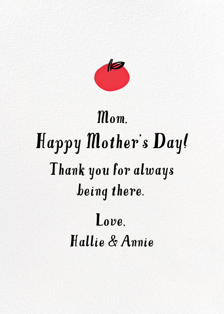 Apples to Apples - Hello!Lucky - Mother's Day - card back