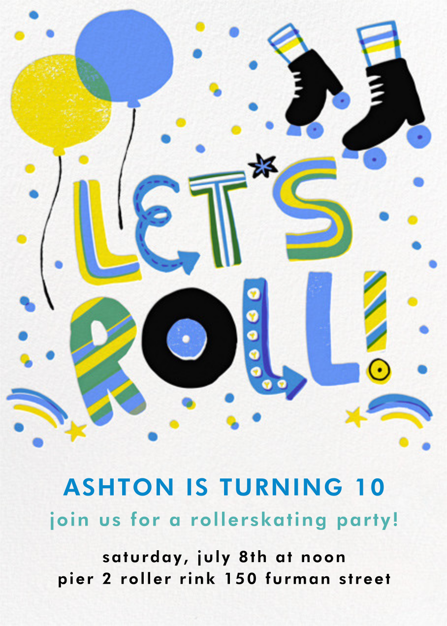Let's Roll - Blue - Hello!Lucky - Kids' birthday