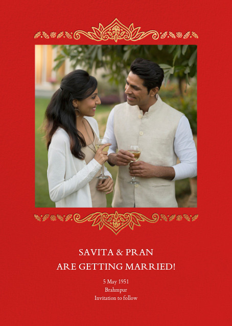 Dvaar (Photo Save the Date) - Red - Paperless Post - Photo