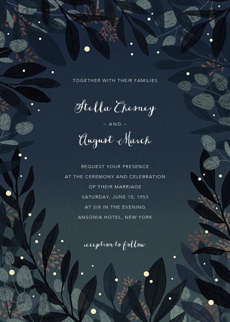 Laurelwood (Invitation) - Blue - Paperless Post - All
