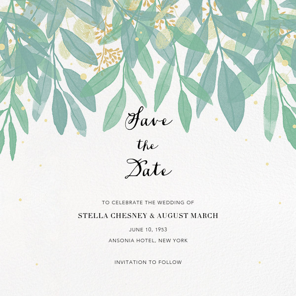 Laurelwood (Save the Date) - White - Paperless Post