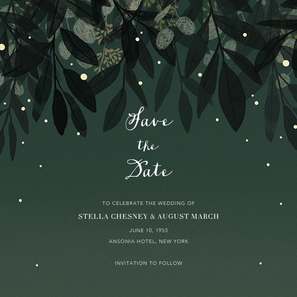 Laurelwood (Save the Date) - Green - Paperless Post