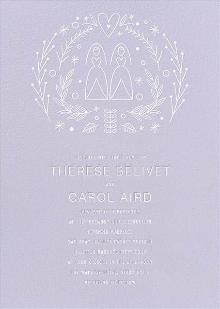Iconic Brides (Invitation) - Lavender/White - Paperless Post - All