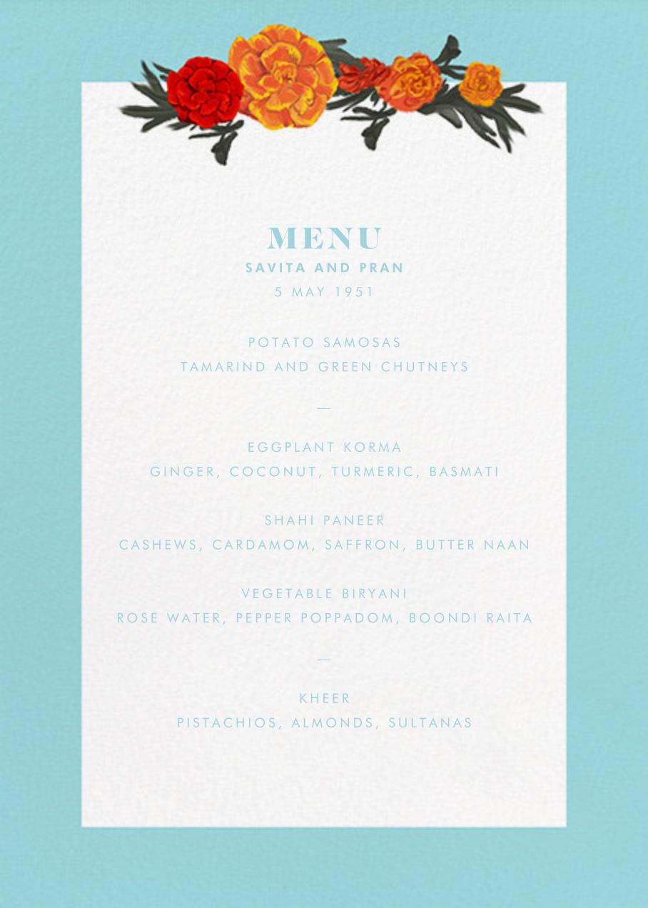 Benares (Menu) - Caribbean - Paperless Post - Menus