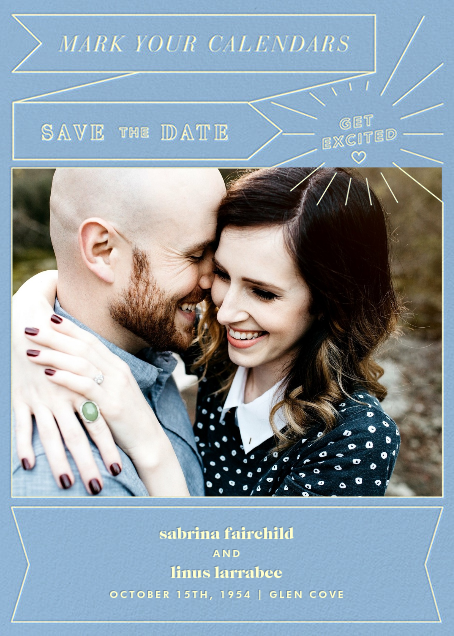 Chronology (Save the Date) - Spring Rain - Paperless Post - Photo