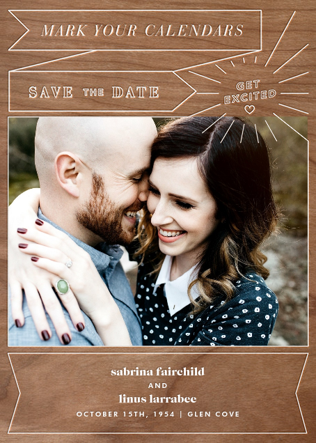 Chronology (Save the Date) - Wood - Paperless Post - Photo